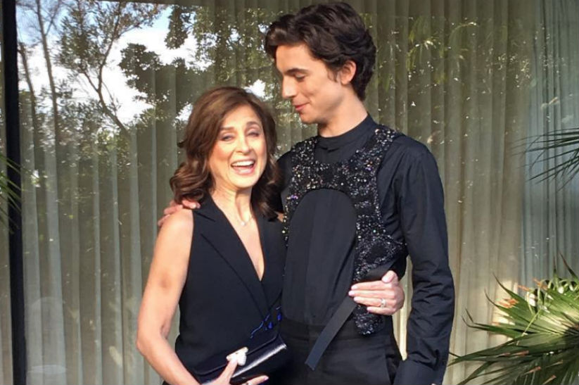 Timothee Chalamet's mom was his date to the Golden Globes last night | Photo: Instagram/tchalamet