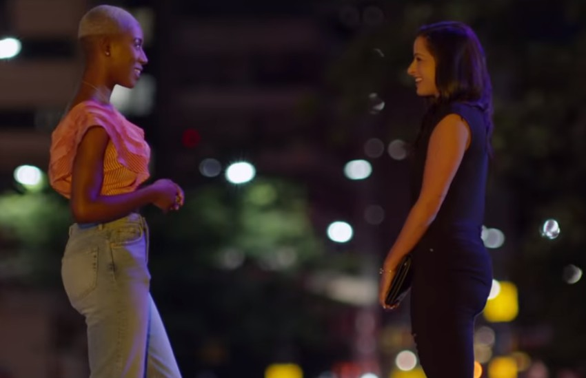 Two women on a date in the Netflix series Dating Around