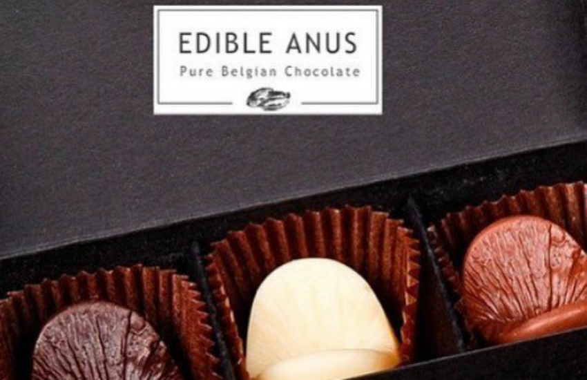 The Edible Anus, made of Belgian chocolate
