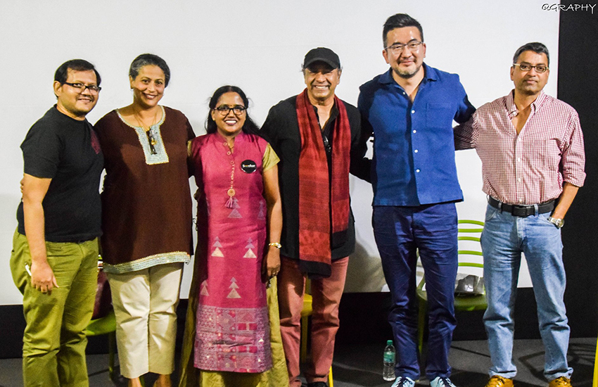 Jay Lin (in blue shirt) with LGBTI activists and filmmakers from India (Photo: Facebook)