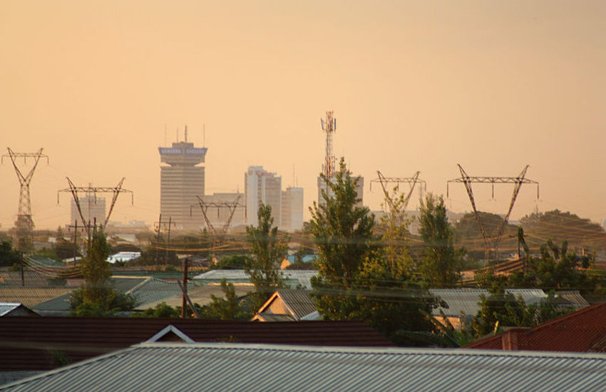 The city of Lusaka in Zambia