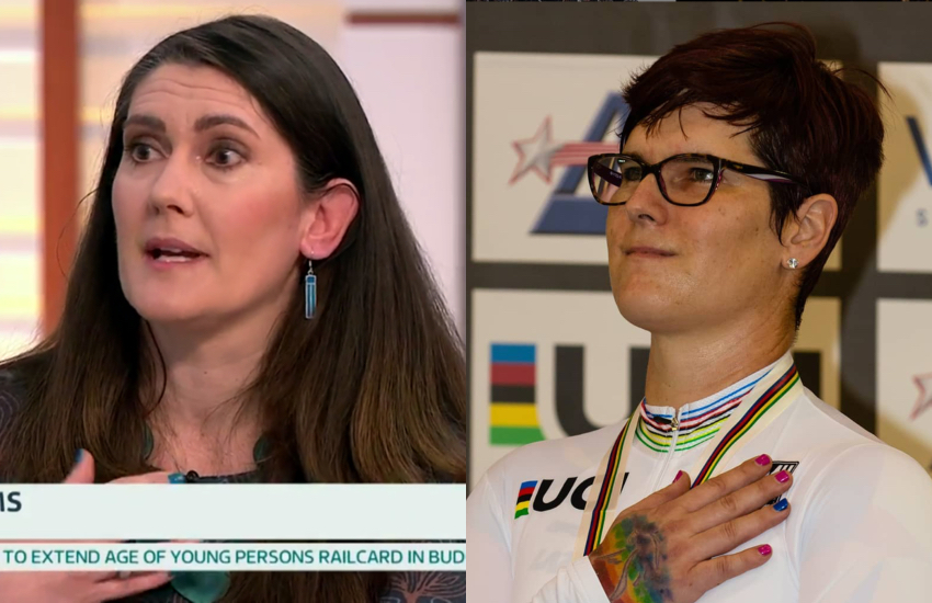 Rachel McKinnon (right) refused to participate on the panel after finding out Nicola Williams would appear to