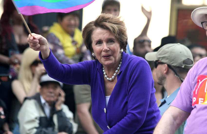 Congress member Nancy Pelosi at a Pride event in 2013