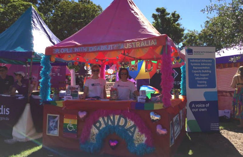People With Disability Australia attends the Mardi Gras Fair Day in Sydney (Photo: Facebook)