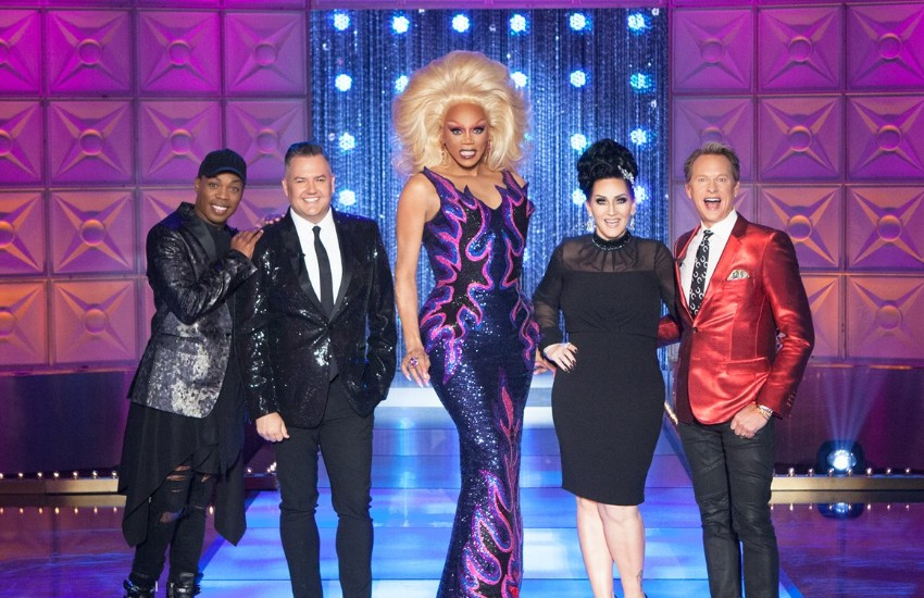RuPaul and previous guest judges on Drag Race