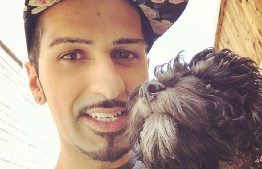 Shamal Waraich with his dog