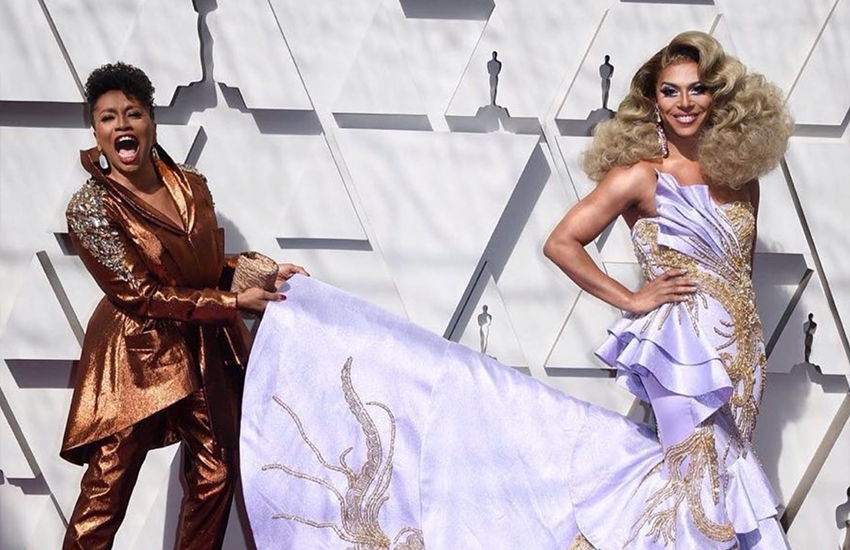 Shangela and Jenifer Lewis on the Oscars red carpet (Photo: Instagram)