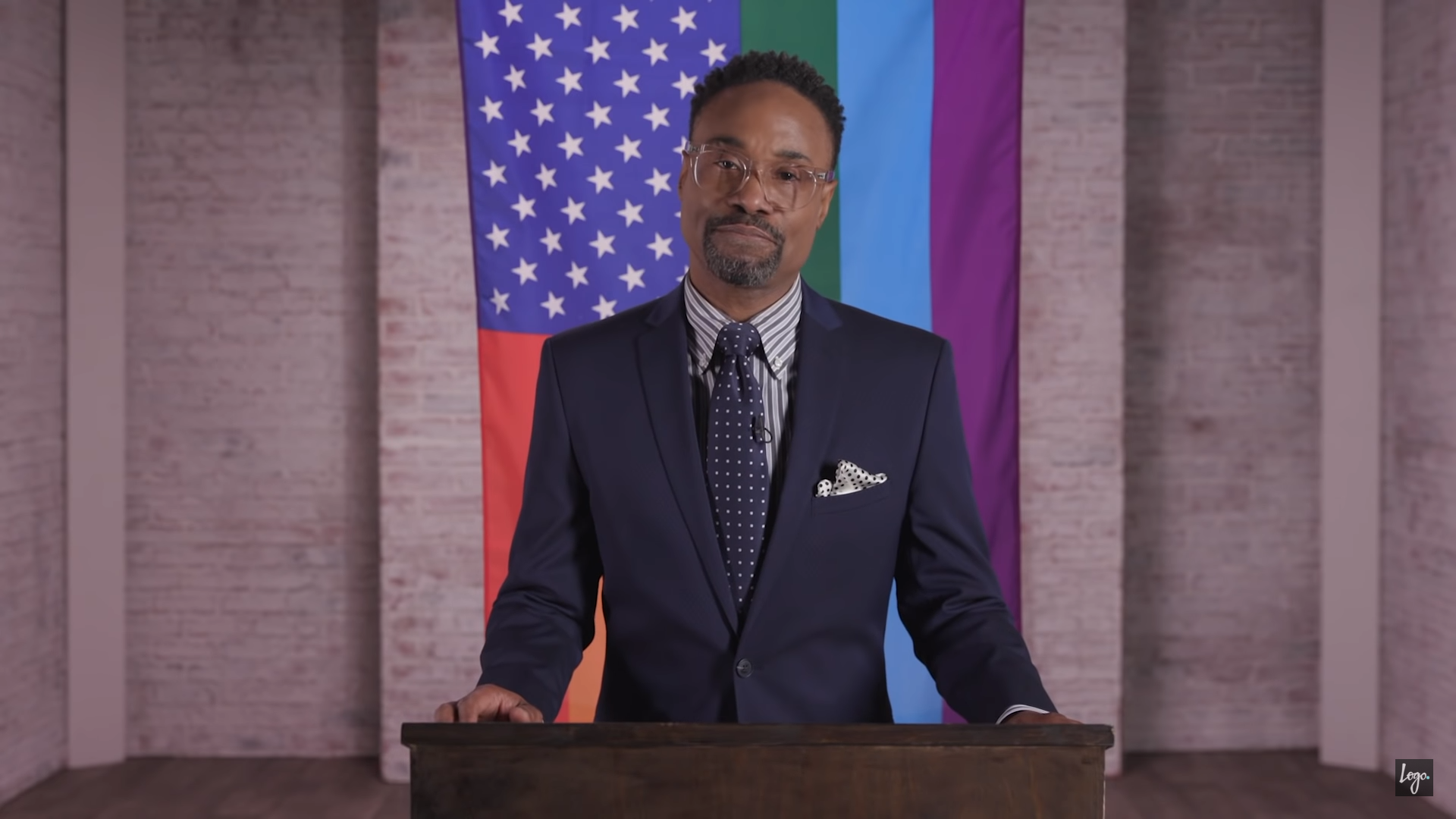 Billy Porter giving an LGBTI State of the Union