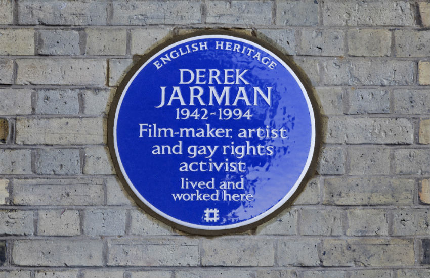 The blue plaque dedicated to Derek Jarman