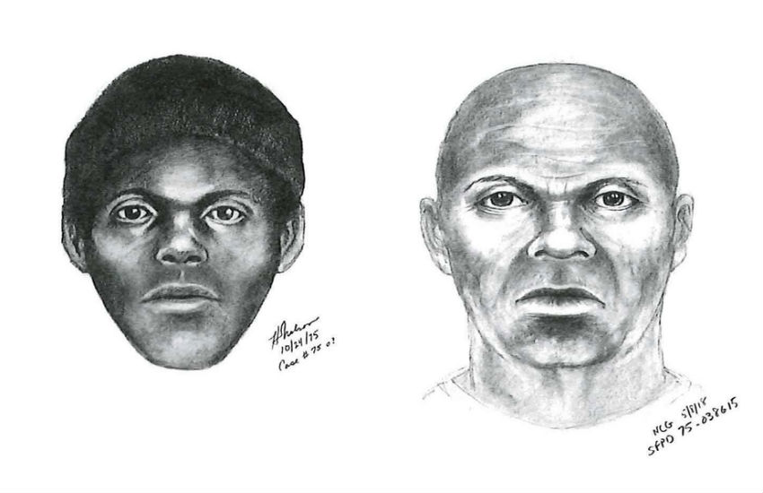 Two images of the Doodler serial killer suspect