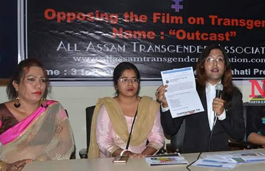 All Assam Transgender Association (AATA) hold a press conference on upcoming elections (Photo: Facebook)