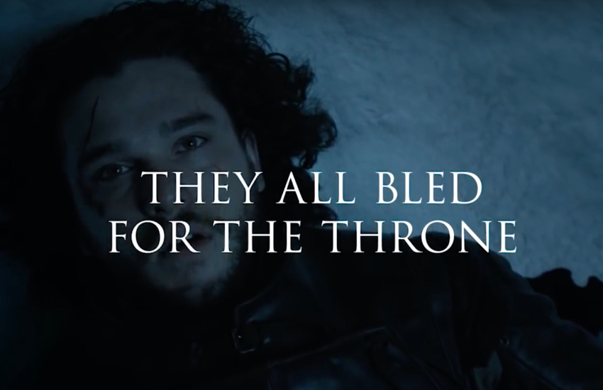 'Bleed for the Throne' is a blood drive campaign made ahead of GoT's season eight premier on 14 April