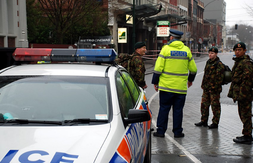 Christchurch, New Zealand police and authorities