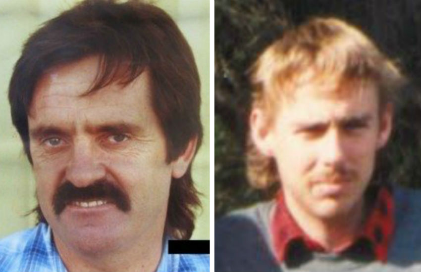 """Victims: David """"John"""" Saint (left) and Robert Woodland were brutally murdered in Adelaide. Photo: SAPOL"""