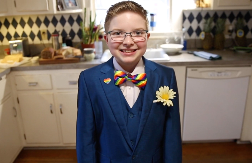 Ella Briggs wants to be the first lesbian US President (Photo: YouTube)