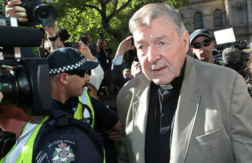 George Pell arrives for sentencing in Melbourne (Photo: Twitter)