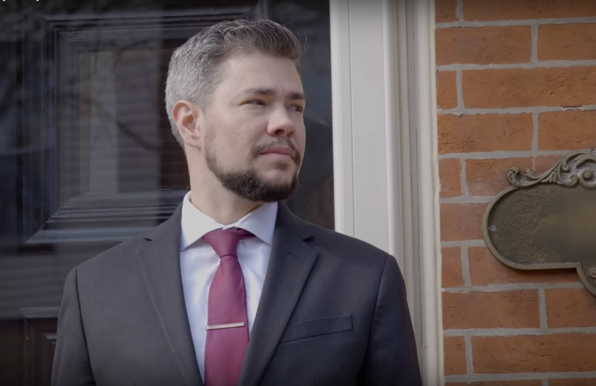 Trans man Henry Sias is running for judge in Philadelphia. (Photo: YouTube)