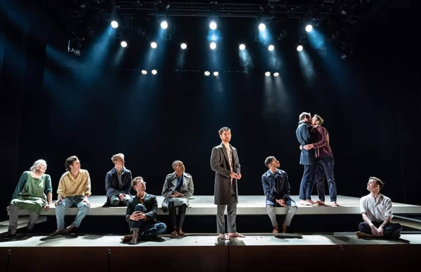 The Inheritance play performing on-stage