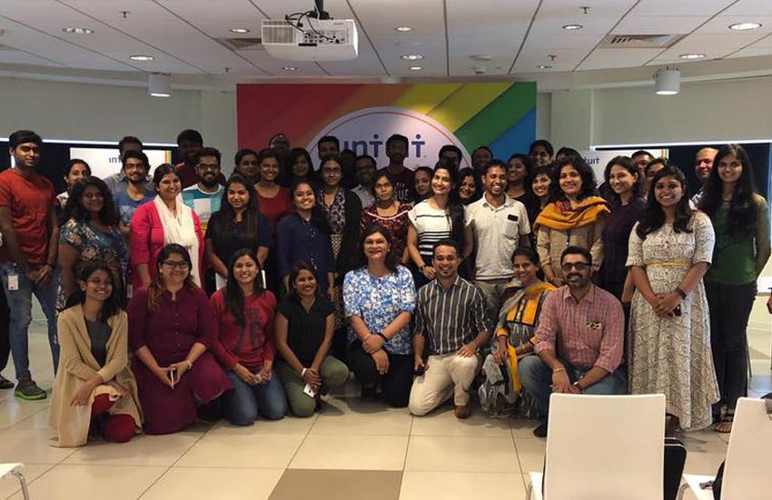 Intuit India employees launch an LGBT pride and diversity scheme (Photo: Facebook)