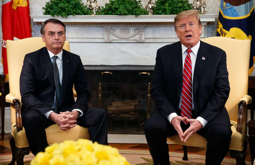 Jair Bolsonaro and Donald Trump at the White House (Photo: Twitter)