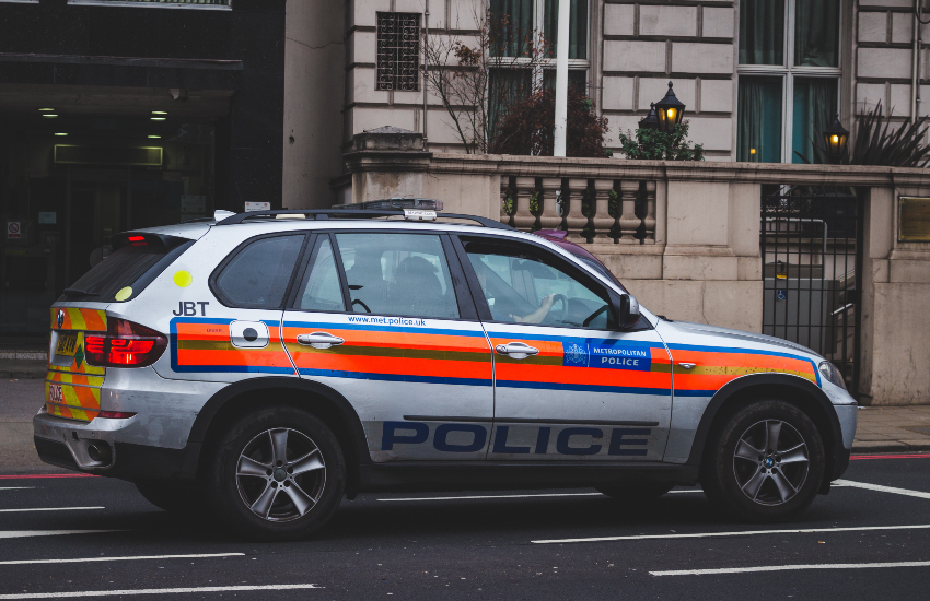 A Metropolitan police car parked in London