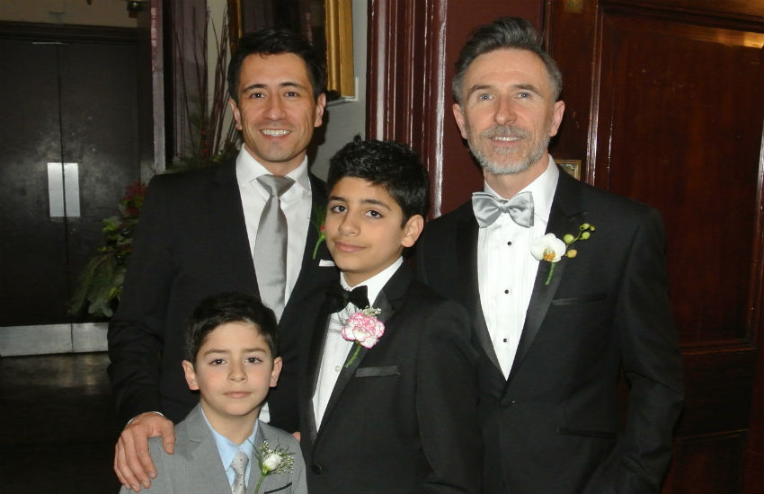 Peter McGraith (right) and family