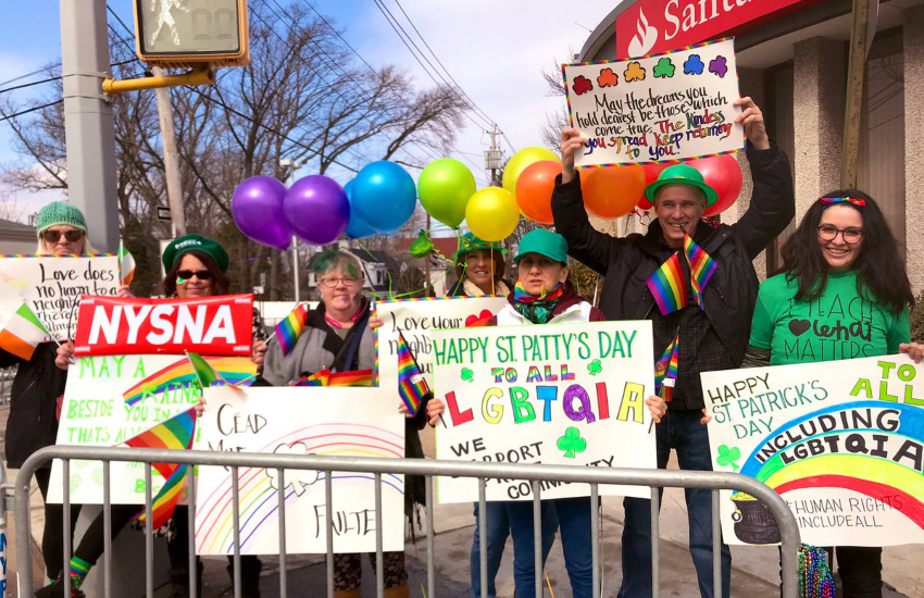 Rainbow Run supports decorated Forest avenue with pride flags and signs