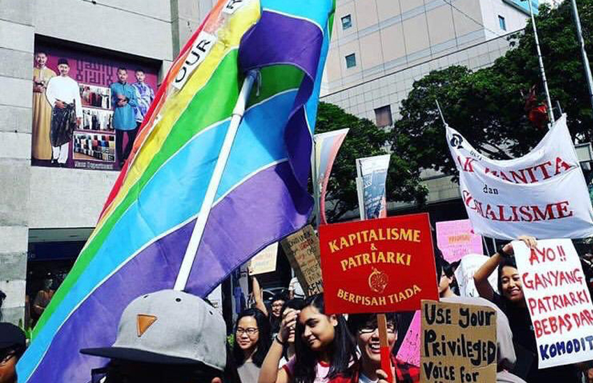 The Women's March Malaysia pushed for LGBTI rights (Photo: Twitter)