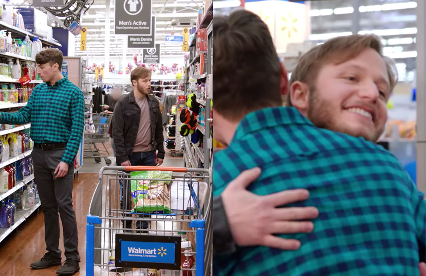Walmart's Love in the Aisled advertisement featured a same-sex couple