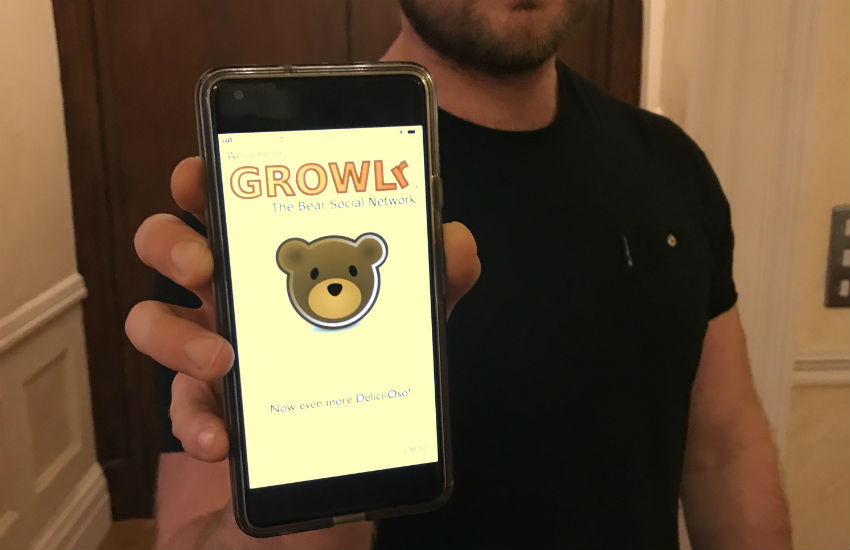 The Growlr app is aimed at gay and bi members of the bear community