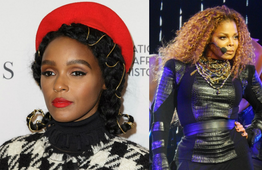 Janelle Monáe (left) will induct Janet Jackson into the 2019 Rock and Roll Hall of Fame. (Photos from Wikimedia Commons)