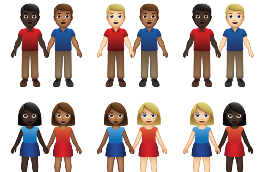 interracial LGBTI couple emojis