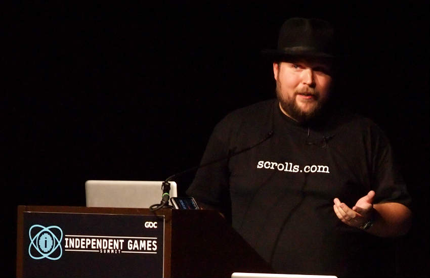 Notch at the 2011 Game Developers Conference.
