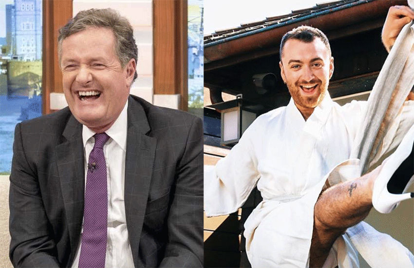 Piers Morgan and Sam Smith | Photo: Itv/Instagram/samsmithworld