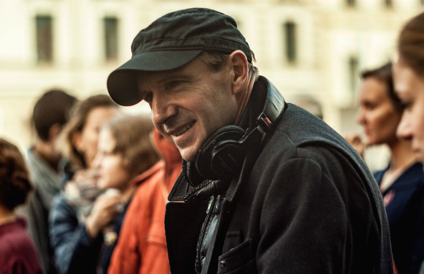 Ralph Fiennes on the set of The White Crow