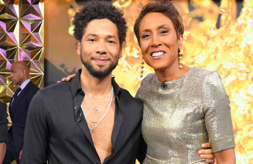 Jussie Smollet and Robin Roberts