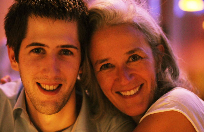 Author Tatiana de Rosnay (right) and her gay son, Louis