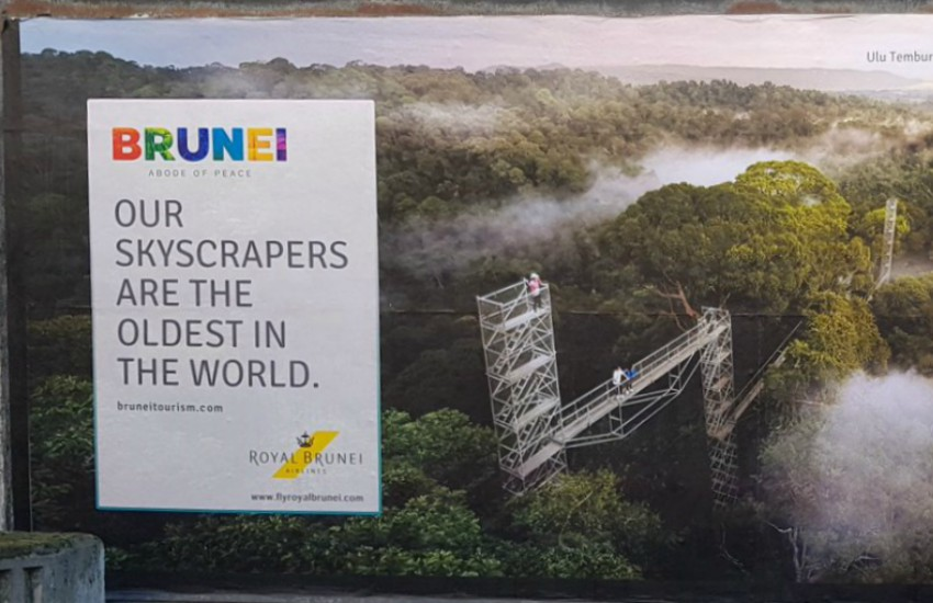 Amid Brunei introducing the death penalty for LGBTI people, an ad on London's tube network is under fire