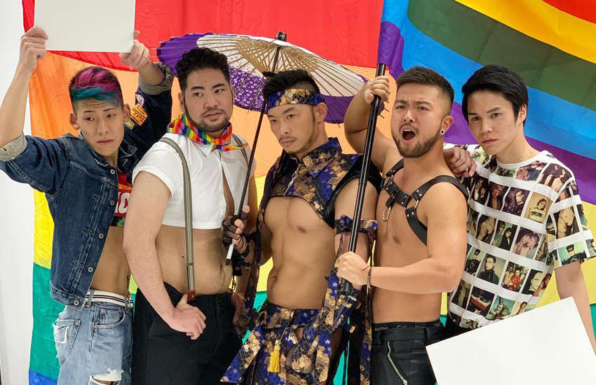 Contestants of Mr Gay Japan 2019 (Photo: Facebook)