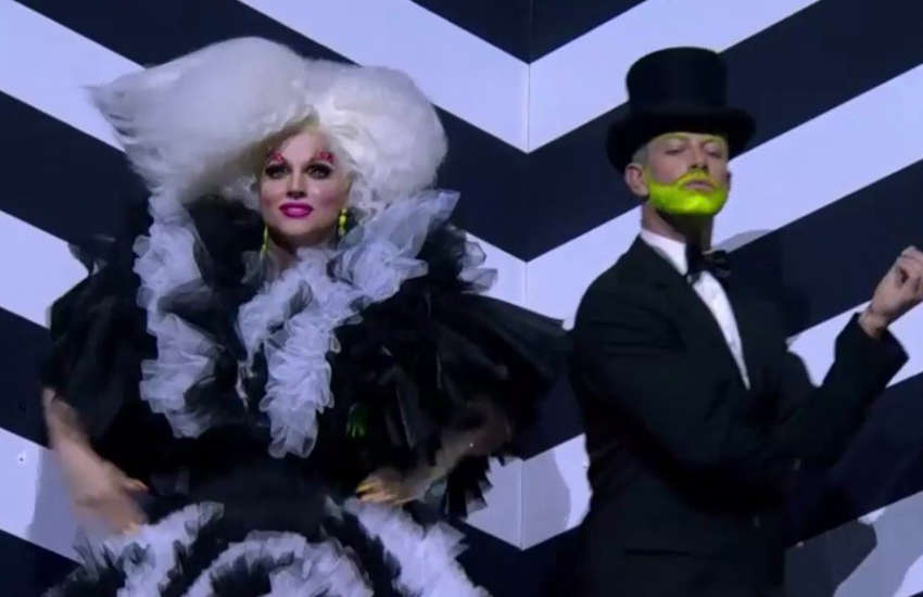 Courtney Act and Joshua Keefe (Photo: Twitter)
