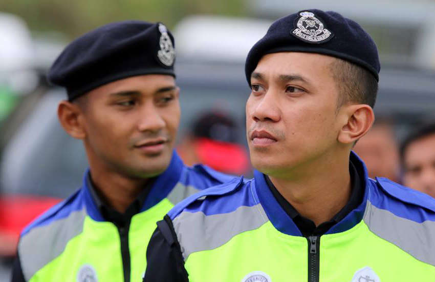 Members of the Royal Malaysia Police (Photo: Facebook)