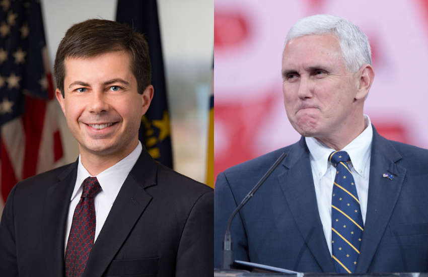 Pete Buttigieg and Mike Pence
