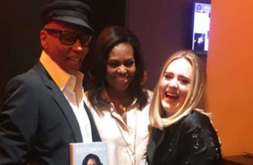 RuPaul, Michelle Obama and Adele all hung out together | Photo: Twitter