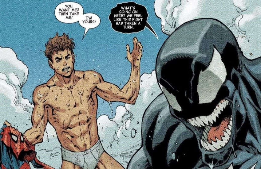 The relationship between Spider-Man and Venom heats up in the comic books | Photo: Marvel