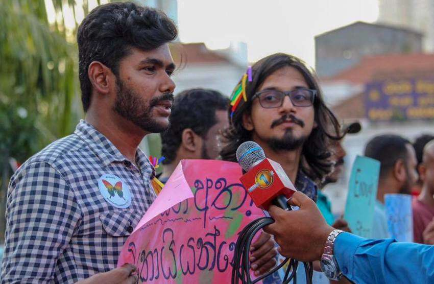 Sri Lankans at a LGBTI rally in 2018