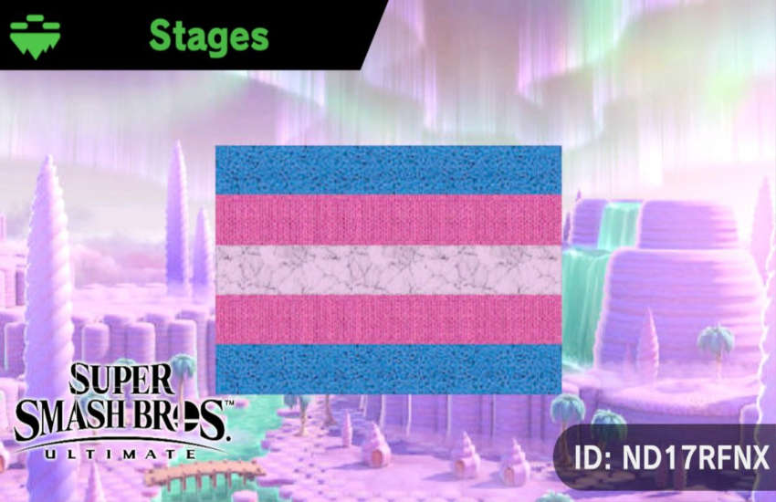 One trans user's stage was taken down for being a 'political statement' by Nintendo