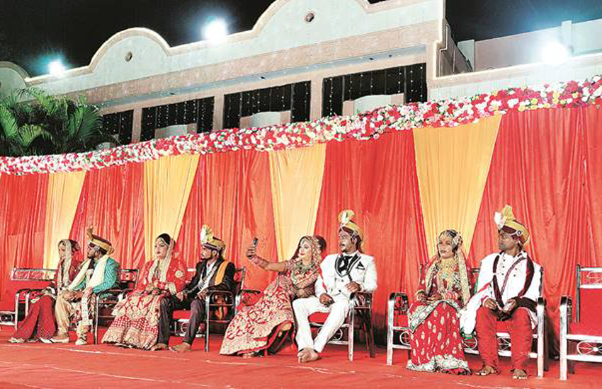 Transgender women attended a mass wedding in India this weekend (Photo: Twitter)