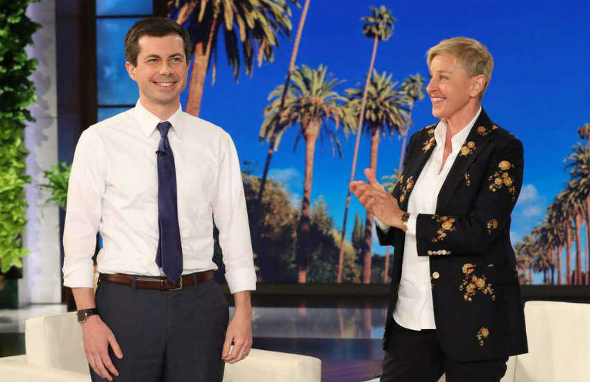 Pete Buttigieg and Ellen DeGeneres