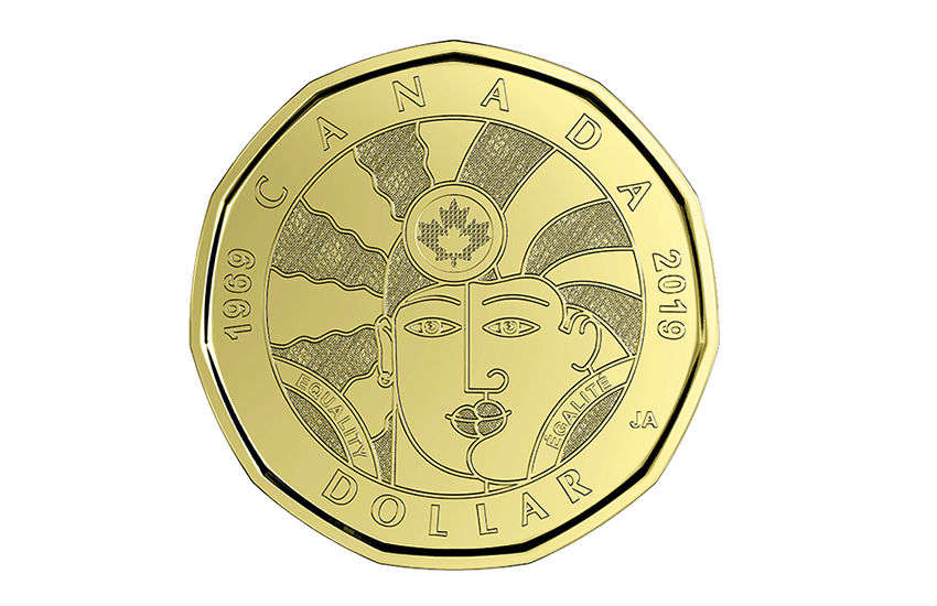 The front face of the new equality coin | Photos: Royal Canadian Mint