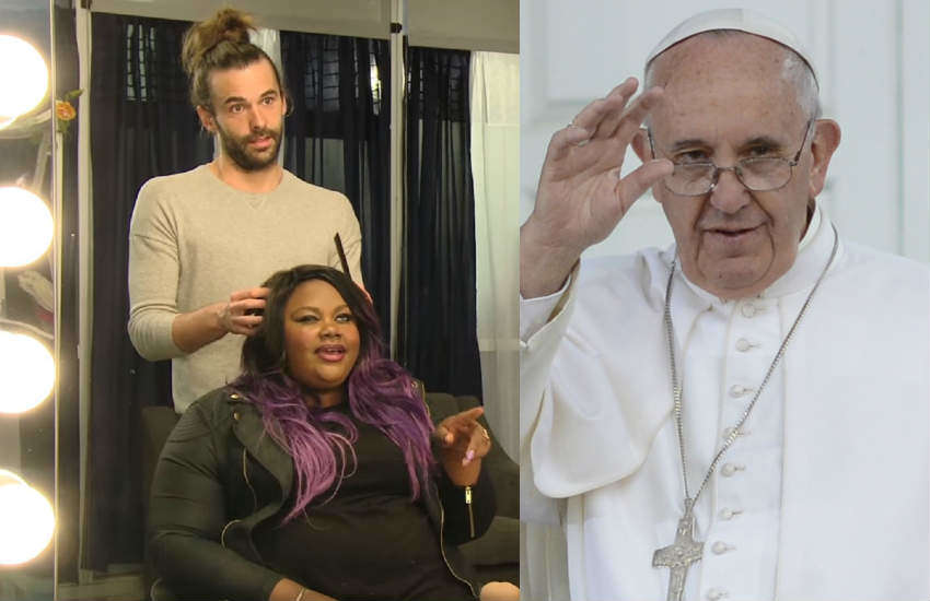 Jonathan Van Ness and Pope Francis